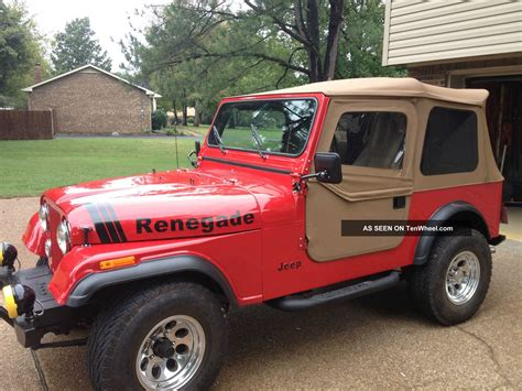 renegade jeep cj7 1977 jeep cj7 304 v8 renegade from the ground up