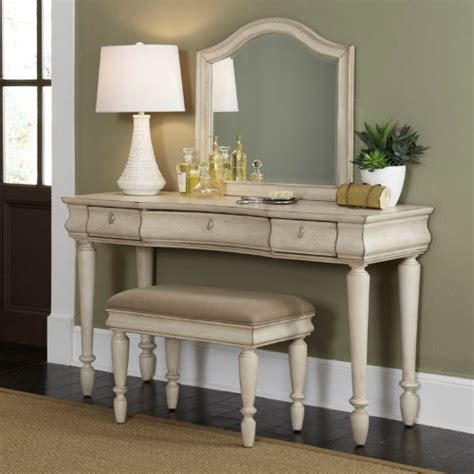 Rustic Traditions Bedroom Vanity Set  Rustic White