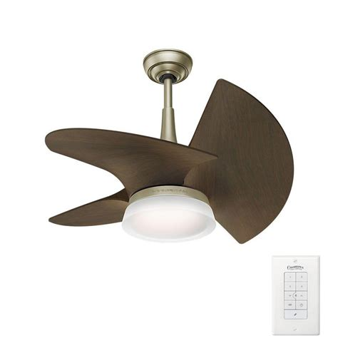 casablanca first home ceiling fan casablanca orchid 30 in led indoor outdoor pewter revival