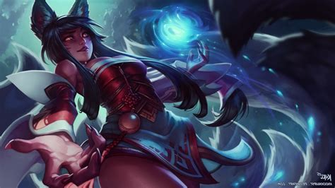 Anime League Of Legends Wallpaper - league of legends ahri fox bunny ears