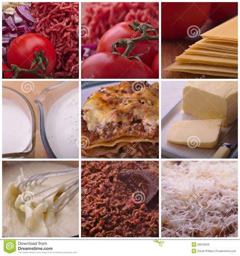 ingr 233 dients de recette de lasagne images libres de droits image 29970559