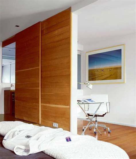 space saving sliding interior doors  spacious  modern small rooms