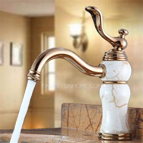 high  rose gold porcelain european style bathroom sink