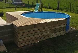 Piscine Tubulaire Hors Sol : piscine tubulaire habillage bois ~ Melissatoandfro.com Idées de Décoration