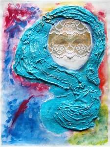 Bandes De Platre Bricolage : tableau la myst rieuse avec bande de platre masque et dentelle cr ation beaux arts peinture ~ Dallasstarsshop.com Idées de Décoration