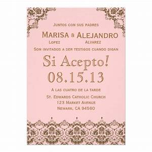 invitacion de boda en espanol wedding invitation 5quot x 7 With wedding invitations en espanol