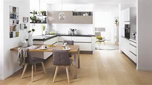 Table Cuisine Moderne : cuisine quip e moderne en l lenna blanche cuisinella ~ Teatrodelosmanantiales.com Idées de Décoration