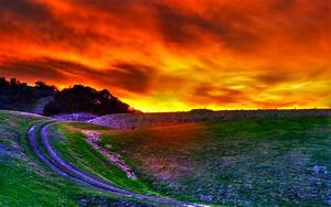 Awesome HDR Sunset Wallpaper #46739 Hd Wallpapers ...