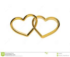clipart mariage 3d golden engagement hearts rings connected together stock photo image 36636920