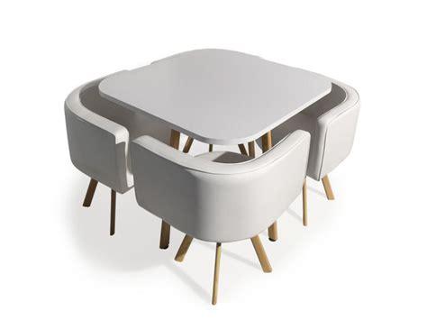 Table Et Chaises Scandinaves Oslo Blanc  Vente De Menzzo