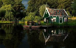 Small House on The River Side – Photography Wallpapers on ...