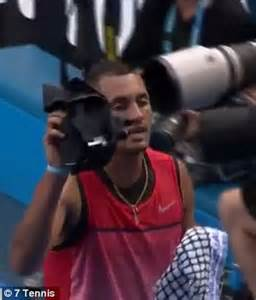 Nick Kyrgios changes clothes at Australian Open 2016 ...
