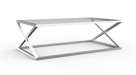 Top Glass And Chrome Coffee Table