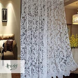 Rideaux Salon Pas Cher : pas cher blanc crans finis rustiques dentelle balcon ~ Teatrodelosmanantiales.com Idées de Décoration