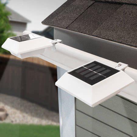 solar gutter lights touch of eco solar gutter light 2 pack best solar