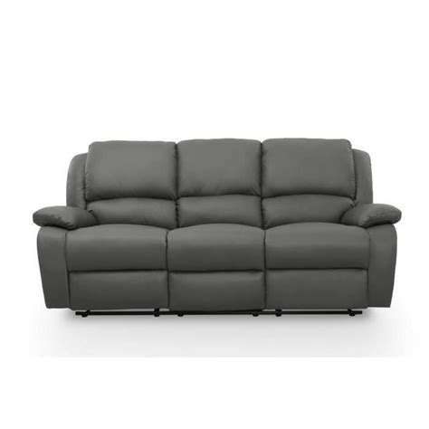 canape 3 places relax relax canap 233 3 places relaxation simili gris achat