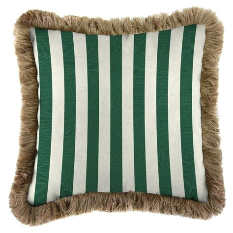 Tuscan Kitchen Decor Ideas - jordan manufacturing sunbrella mason forest green square outdoor throw pillow with heather beige