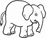 Elephant Coloring Forget Supplies Don sketch template