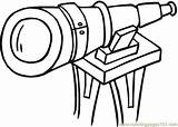 Telescope Coloring Pages Printable Optical Illusions Technology Illusion Space Google Coloringpages101 Theme Getdrawings sketch template
