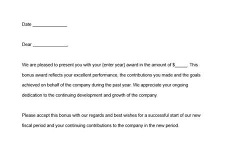 award letter template samples  guidelines