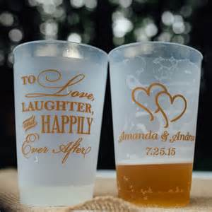 plastic cups for wedding plastic wedding cups personalized 24 oz frosted my wedding reception ideas