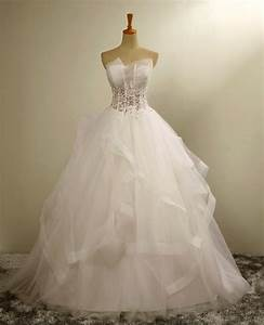 bridal dresses ruffle tulle strapless wedding dresses With luulla wedding dresses