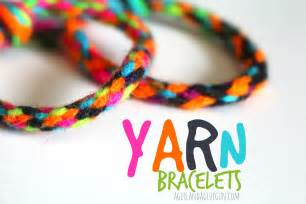 Yarn Kid Craft Bracelets