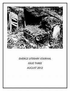 Emerge Literary Journal  Issue Three By Ariana Den Bleyker