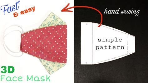 Make a mask suitable for using glasses / Face mask sewing