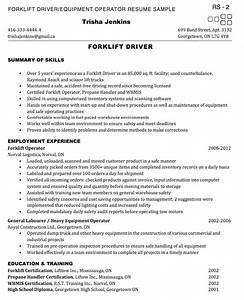 forklift operator resume sample http exampleresumecv With forklift resume sample