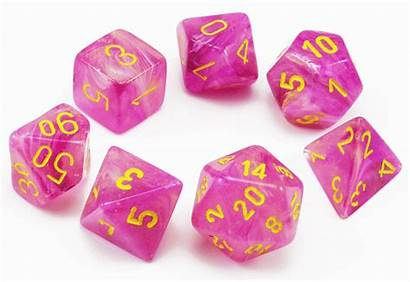 Dice Fuschia Chessex Playing Role Rpg Yellow