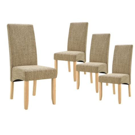 chaises sejour lot de 4 chaises de séjour couleur beige achat vente