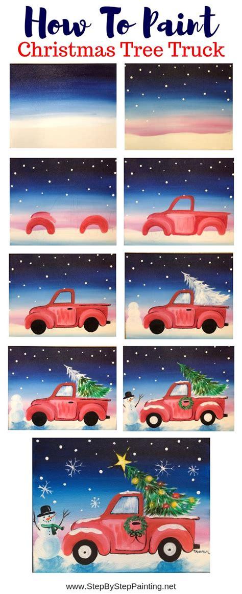 Wie Malt Einen by Wie Einen Weihnachtsbaum Lkw Malt Einfachesmalen Tk