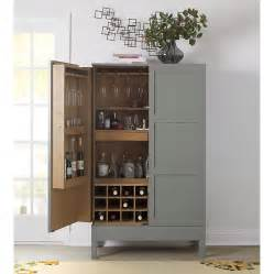 victuals grey bar cabinet by pinch for crate barrel kitchn