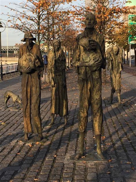 famine memorial dublin ireland stunning art memorial