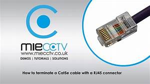 How To Terminate A Cat5e Cable With A Rj45 Connector
