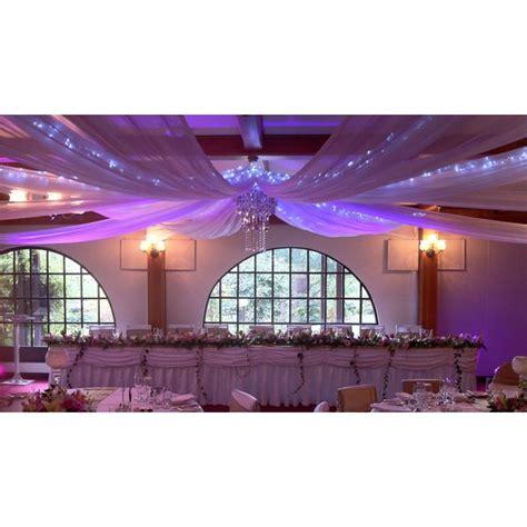 tenture plafond chambre tenture en organza géante pour décoration mariage