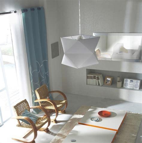 luminaires cuisine suspension suspension blanche design en tissu et en pvc photo 14 15