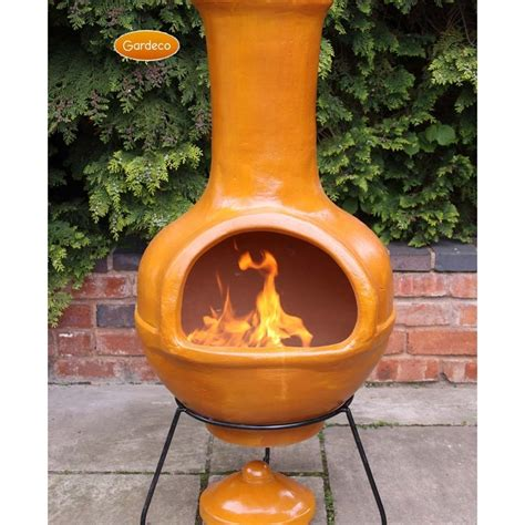 Clay Chiminea by Special Large Clay Chiminea Outdoor Fireplace Bistrodre
