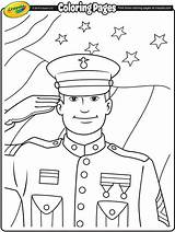 Veterans Coloring Soldier Pages Crayola sketch template