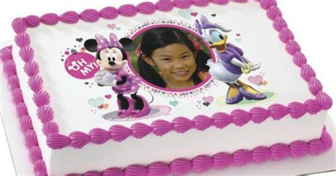Personalized Birthday Cake Images Disney Minnie Mouse Duck Edible Personalized Cake