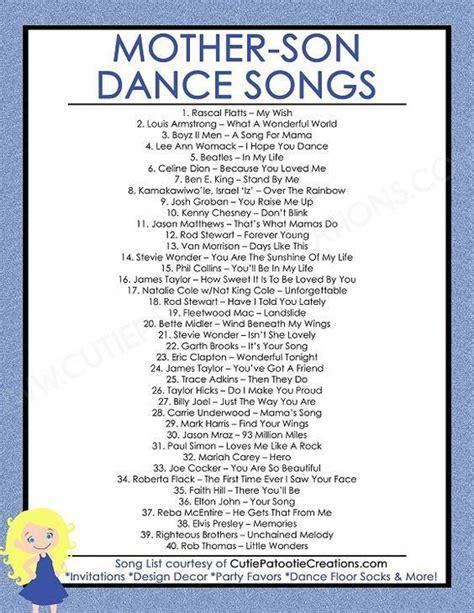 mother son dance songs  mitzvahs  weddings top