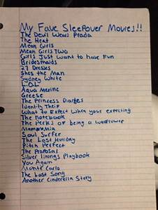 These Are My Favorite Sleepover Movies Have Some Good