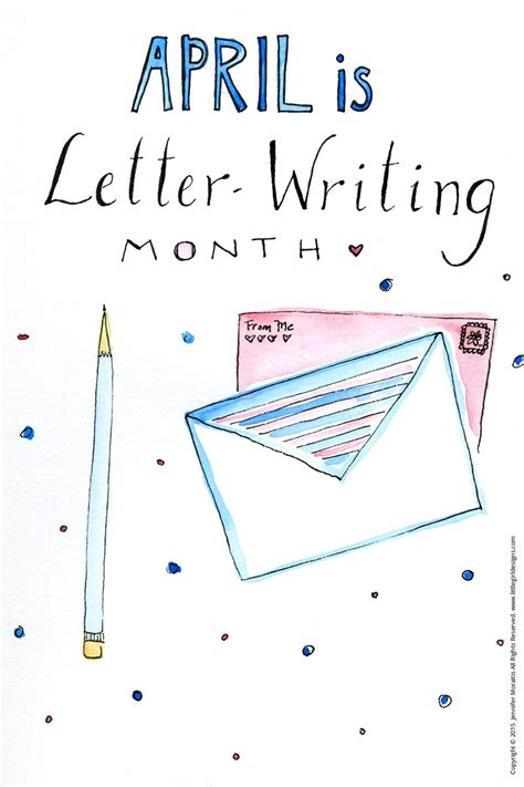 april  letter writing month  girl designs
