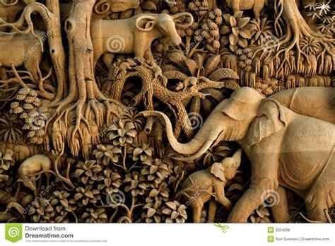 scultura  legno della tailandia fotografia stock