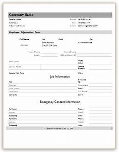 employee information forms for ms word excel word With excel template employee information