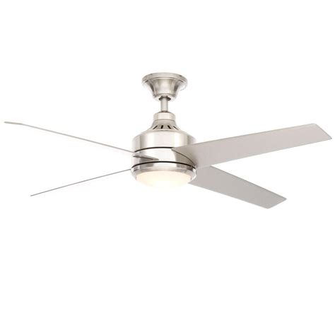 52 brushed nickel ceiling fan home decorators collection mercer 52 in brushed nickel