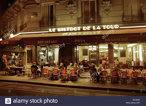 le bistrot de le bistrot de la tour restaurant to the eiffel tower stock photo royalty free