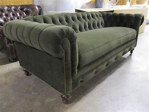 moss green velvet chesterfield With moss green sectional sofa
