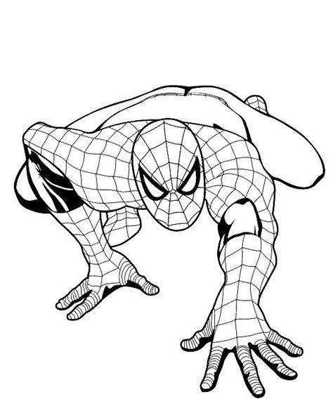 spiderman da colorare gratis